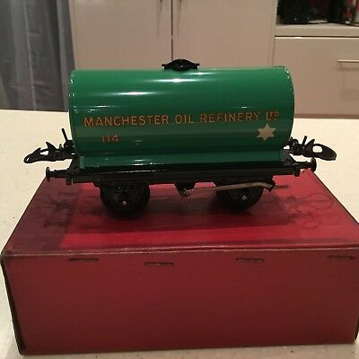 HORNBY O GAUGE No 5o Manchester Oil Refinery Wagon Boxed Excellent Condition.