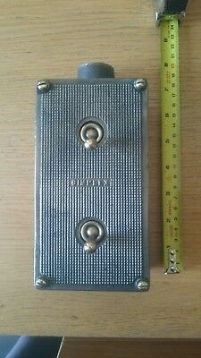 Vintage Industrial simplex double Light Switch tested working condition