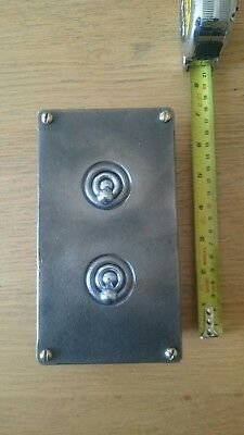 Vintage Industrial double Light Switch tested working condition