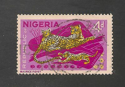 Nigeria #189 (A49) VF USED - 1965 4p Leopards and Cubs