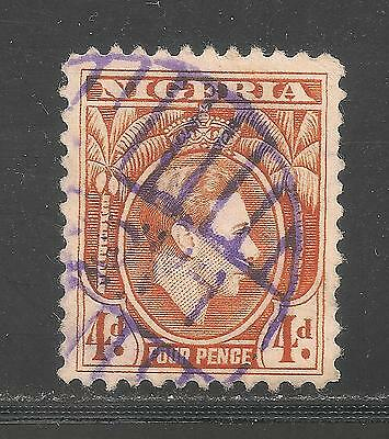 Nigeria #59 (A14) VF USED - 1938 4p King George VI