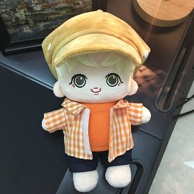 Handmade KPOP BTS JIMIN Park Ji Min Doll with Clothes Hat Plush Dolls Toy 23cm