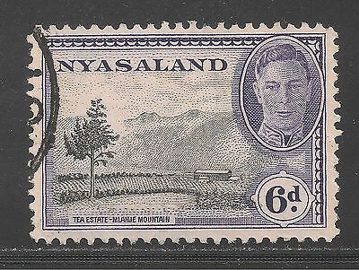 Nyasaland Protectorate.#74 (A10) VF USED - 1945 6p Tea Estate - KGVI
