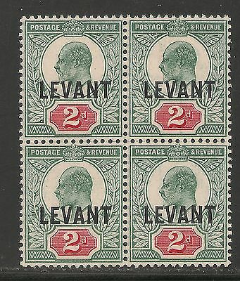 British Offices Levant #18 (SG #L4) VF MNH BLOCK 4 - 1905 2d King Edward VII