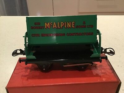 HORNBY O GAUGE No 5o Side Tipping Wagon McAlpine Boxed Excellent Condition.