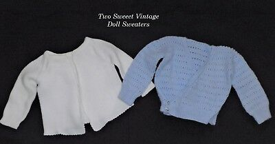 2 Baby Sweaters/Clothes/Doll/Vtg Composition/Compo/Hard Plastic/Composition Doll