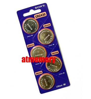 Sony CR2430 CR 2430 3V Coin Cell Button Battery x 5pcs Genuine Exp.2027