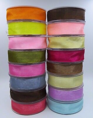 25mm ORGANZA  Woven Edge Ribbon Wedding Cakes Gift Wrapping