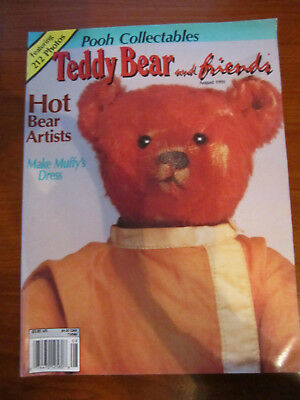 Old Teddy Bear Magazine Teddy Bear And Friends August 1991  *** Must See ******