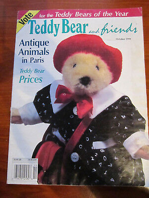 Old Teddy Bear Magazine Teddy Bear And Friends October 1991  *** Must See ******