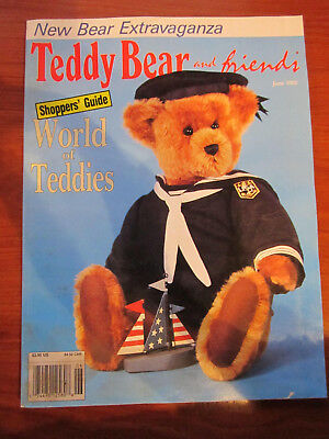 Old Teddy Bear Magazine Teddy Bear And Friends June 1992 *** Must See ******