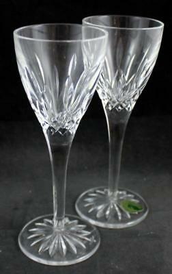 Waterford LISMORE 2 Small Liquor Cocktail Cordials GREAT CONDITION