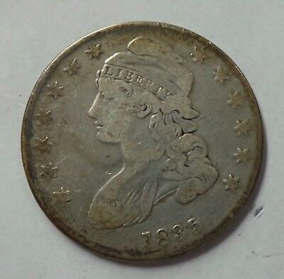 1835 50C Capped Bust Lettered Edge Silver Half Dollar Coin