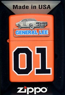 01 Zippo Dukes Of Hazzard 80's Retro Dodge Charger general lee southern w/ decal