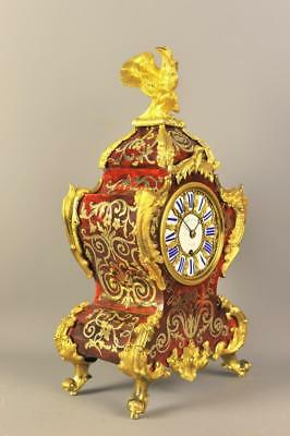 Fine English Boulle Fusee Mantle Clock