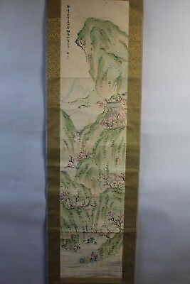 """Japanese hanging scroll Handpainted on paper  """"Sansui-zu"""" s08"""