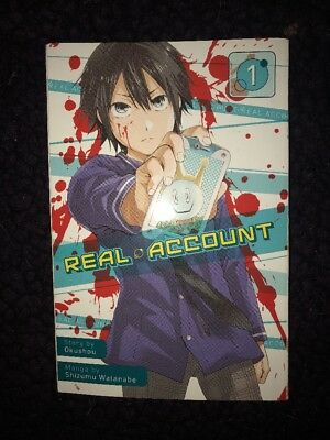 Real Account vol 1 English manga (Very Good Condition)