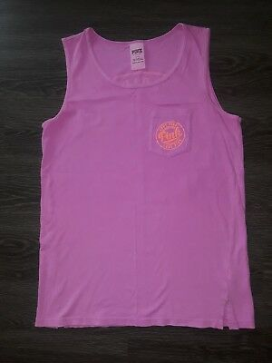 Vs pink campus tank size small EUC ONLY WORN ONE TIME