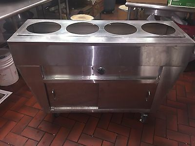 Custom Made Stainless Steel 4 Bay Electric Portable Steam Table
