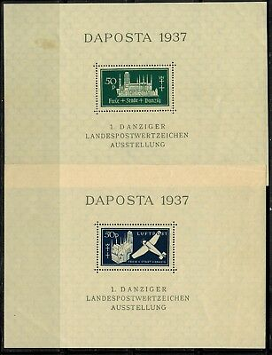 Danzig #221,C41 2 Sheets of 1 1937 MLH