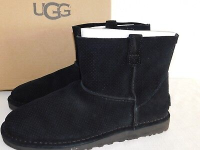 5428d2cadb3 New Nib Womens Size 11 Black Ugg 1016852 Classic Unlined Mini Perf Suede  Boots