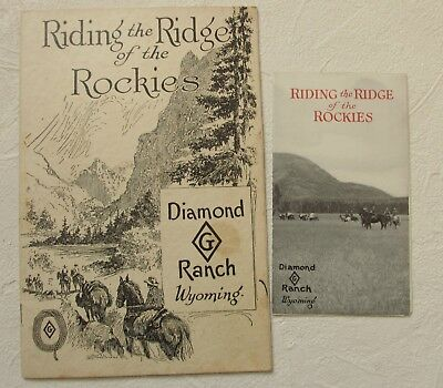 Riding the Ridge of the Rockies Diamond G Ranch Wyoming booklets