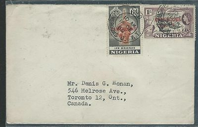 Nigeria Surch Cameroons (P2903B) 1965 Surcharge 6D+1/- Rare Cover To Canada