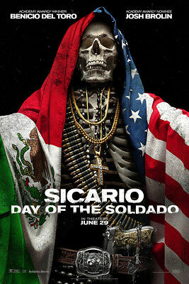 "Sicario Day of the Soldado Art Poster 48x32"" 40x27"" Movie 2018 2 Print Silk"