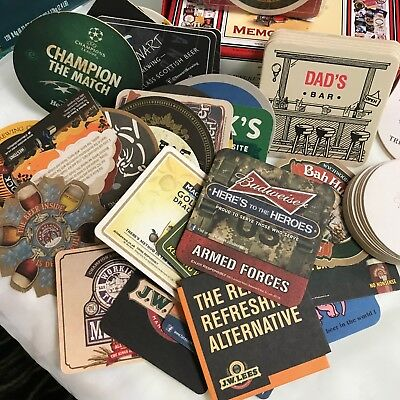 NIB 100 Pub Beer Coasters &  A WHOLE bunch more Miscellaneous Beer Coasters