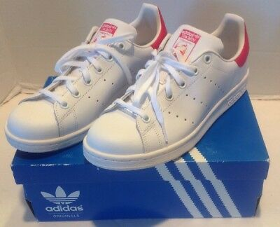 watch 81d2d 70048 NEW Adidas Stan Smith J White Pink B32703 Sneakers Shoes Size 6.5 US Size 6  UK
