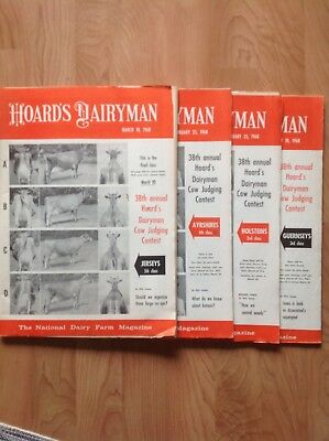Vtg Hoard's Dairyman Cow Judging Issues 1968 Lot Of 4