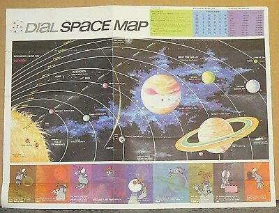 1969 Rand McNally Dial Space Map