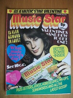 MUSIC STAR - UK POP Magazine (16th Feb 1974) Cliff, Donny, Alvin Stardust, Bowie