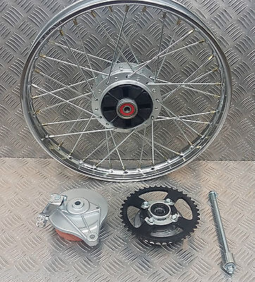 New Honda C50 C70 C90 Early Model Style Rear Wheel + Brake Plate And Spindle
