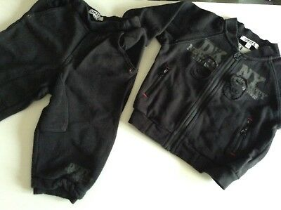 Pre-Loved 100% Auth DKNY, Baby Boy Black Tracksuit. 12 Months