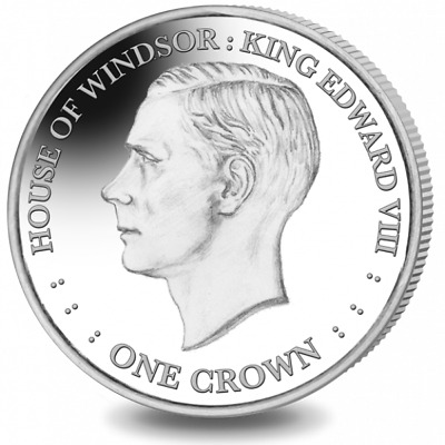 2017 Falkland Islands House of Windsor King Edward VIII Cu-Ni Coin UNC Crown