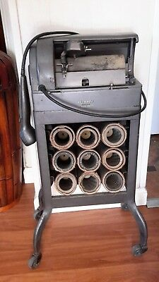 antique dictaphone electronic dictating machine model AE 9 wax cylinders