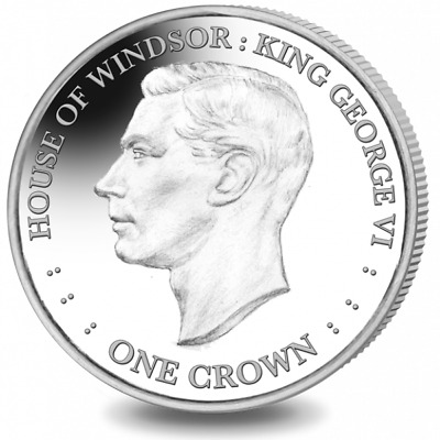 2017 Falkland Islands House of Windsor King George VI Cu-Ni Coin UNC Crown