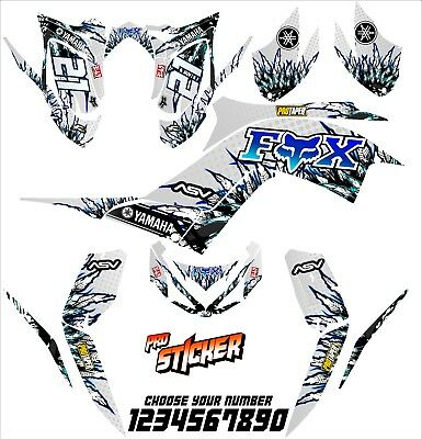 Yamaha Raptor 700 700r graphics 2013-2016 sticker kit decals