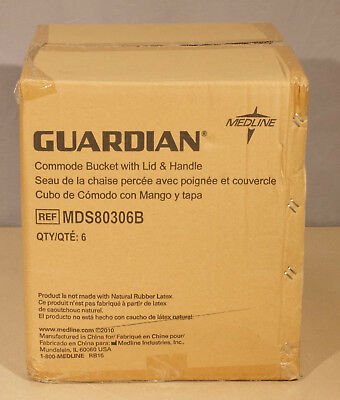 Medline MDS80306B Guardian Commode Bucket W/ Lid  (R22)