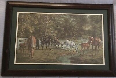 """Vintage Billie Nipper Signed Print """"TRANQUILITY"""" Tennessee Walking Horse"""