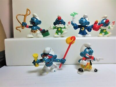 Nice lot of 6 circus smurf mint condition #42