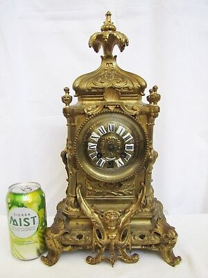 Antique French Japy Freres Bronze Mantel Clock