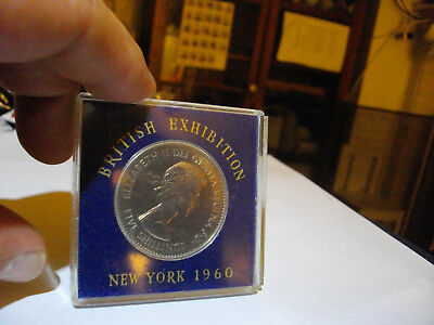 5 Shillings British Exhibition in New York 1960  In Case Queen Elizabeth UK