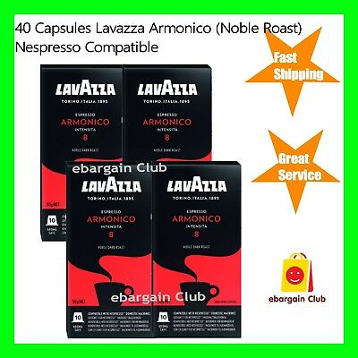 SALE 40 Capsules Lavazza Coffee Pods Armonico Nespresso Compatible Made in Italy