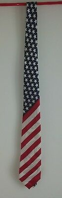 MEN'S FRATELLO AMERICAN FLAG HAND MADE NECK TIE July 4th