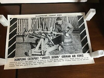 Illustrated Current News Photo - German Air Force Shoots Down Dumpling Catapult