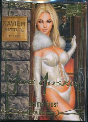 2016 Marvel Masterpieces Gold Signature Trading Card #35 Emma Frost /1999
