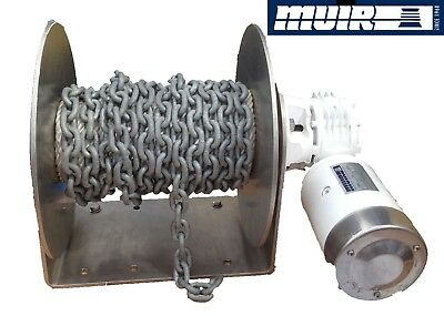 MUIR DFF10 Free Fall  anchor winch, suits boats to 8mts. 12 or 24volt