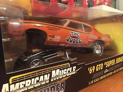 Ertl 1:18 1969 Pontiac GTO Super Judge Arnie The Farmer Beswick Funny Car